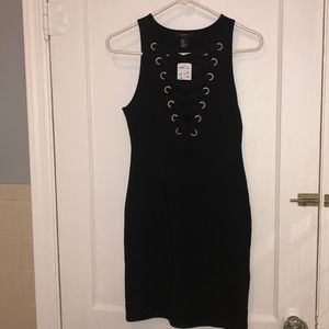 NWT bodycon lace up dress